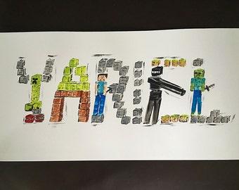 Mindcraft name painting