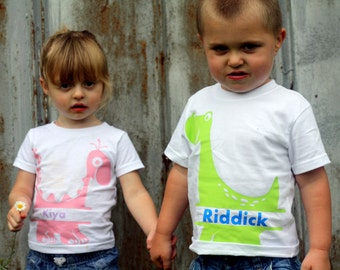 Personalized Dino Toddler T Shirt