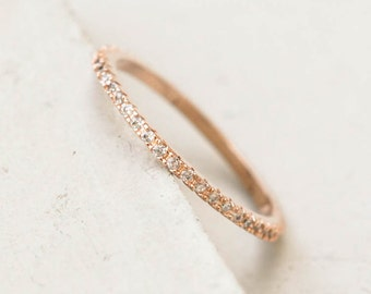 Ultra Thin FULL Eternity Band Ring -Rose Gold - FULL Band  Fashion Ring, Stacking Ring, Wedding Ring, Engagement Ring,