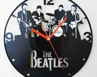 Vinyl wall clock - The Beatles band 2