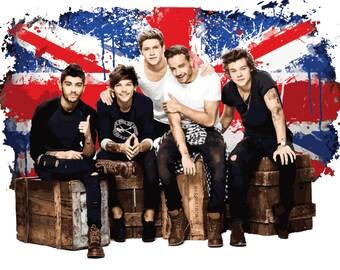 1D One Direction Digital Design - 1D British Flag