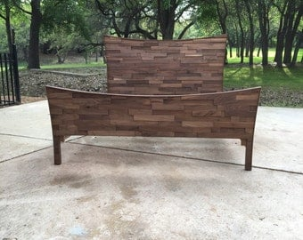 Texturized Walnut Bed