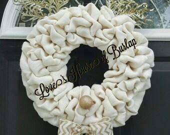 Christmas wreath, Rudolph wreath, Deer wreath, Christmas decor, Holiday wreath, Burlap wreath, Front door wreath, Christmas