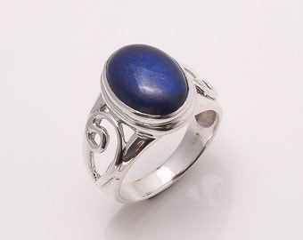 925 Solid Sterling Fine Silver Lapis Ring