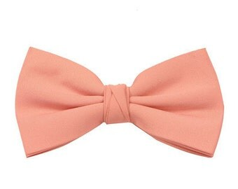 Matchimony Peach Boy's Wedding Bow Tie also available in other colours