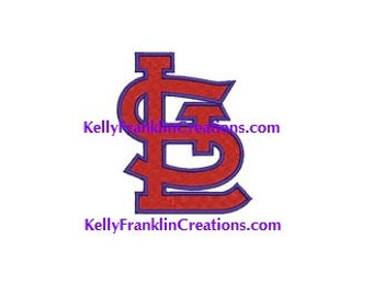 St Louis Cardinals Embroidery 11 SIZES