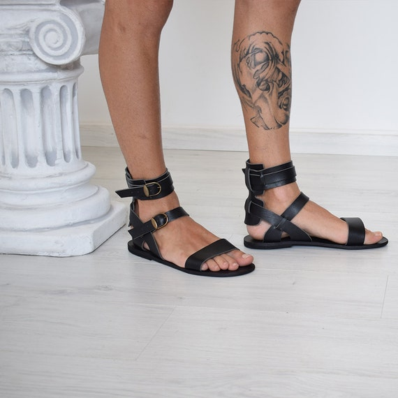 Gift For Men Gladiator Men Sandals Men Black Sandals