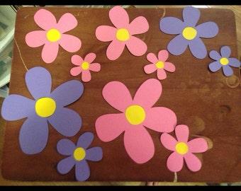 """Flower die cuts 7"""" and 5"""""""