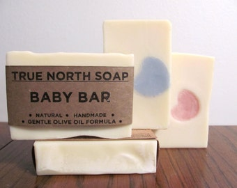 Baby Bar- Cold Process Soap, Olive Oil Soap, Baby Soap, Natural Soap, Vegan Soap, Sensitive Skin Soap