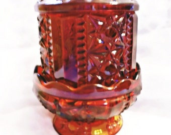 Vintage Pressed Glass Candle Holder
