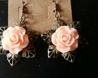 Steampunk Rose Earrings