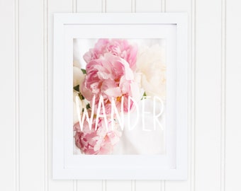 Peonies and Watercolour - Wander - Peony Print