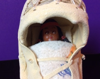 Vintage Toy Papoose with Doll