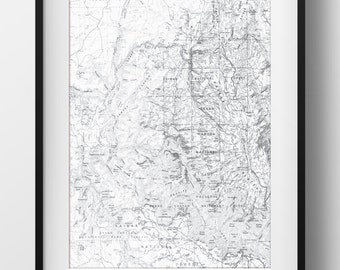 Grand Canyon Map Poster 11x17