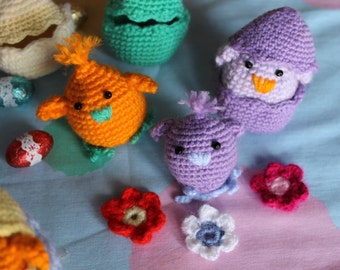 Chicks crocheted