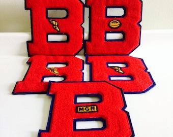 Vintage 1960s Binghamton Central High School Varsity Letters, vintage athletics, old high school memorbilia, Binghamton athletics
