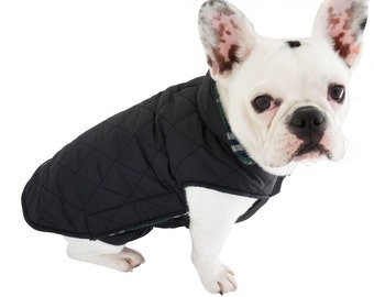 Quilted Dog Coat with Fleece Lining