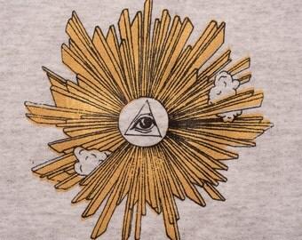 Eye of providence gold print sweatshirt