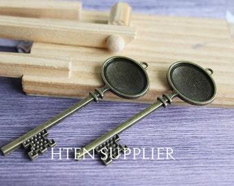 20/100pcs key 18x25mm oval pendant setting, 18x25mm oval pendant blank,18x25mm  antique bronze 18x25mm pendant trays