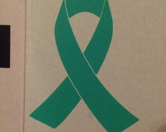 Awareness Ribbon Decal (more colors avaliable)