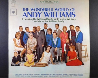 "Vintage Vinyl ""The Wonderful World Of Andy Williams"" 1964 LP"