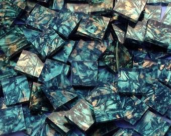 Green Bronze Van Gogh Glass Mosaic Tiles