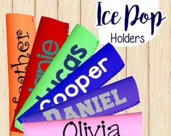 Popsicle Holder, Popsicle Sleeve, Ice Pop Holder, Neoprene Ice Holder, Neoprene Holder, Custom Popsicle, Freeze Pop Holder, Party Favors