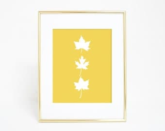 Maple Leaves, Maple Leaf Print, Canadian Leaf Print, Canadian Maple Leaf, Fall Prints, Fall Home Decor, Autumn Prints, Printable Leaves