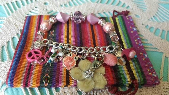 HEY MARY Peace Beads presents Glory bracelets by T.R. Jackson 1/2 stretch genuine crystal charms shine spirit shine proud Christian jewelery