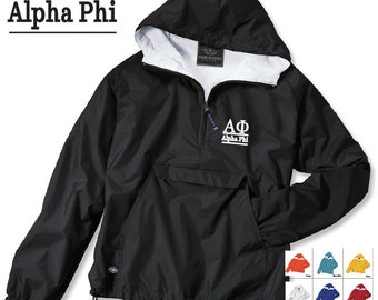 Alpha Phi // A Phi // Sorority Charles River Rain Jacket // Choose your color