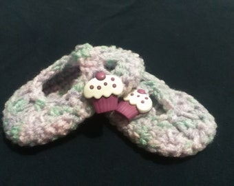 Mary Jane style baby booties