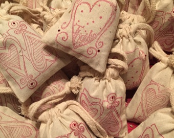 Ten Lavender sachets, pouches, gifts