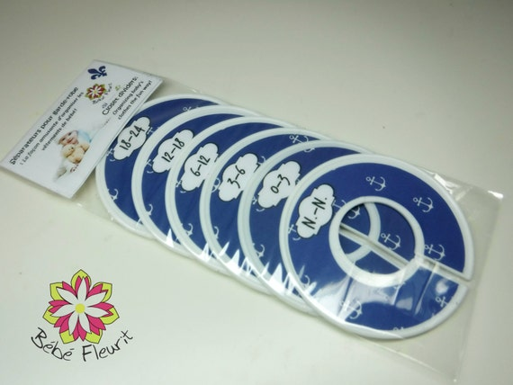 baby boys closet divides for organiziing space, n.-n. to 24 month (6 pcs) marine boat anchor