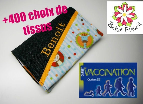 Immunization booklet health cover personnalized