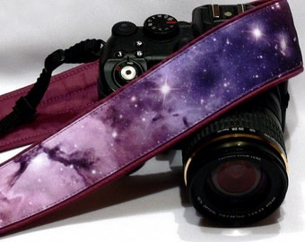 Cosmos Camera Strap. DSLR Camera Strap. Galaxy Camera Strap. Camera Accessories. Gift Idea.