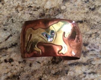 Handmade Copper Horse Bracelet