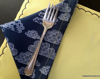 Clouds and Sunshine: Organic Placemat and Napkin Sets