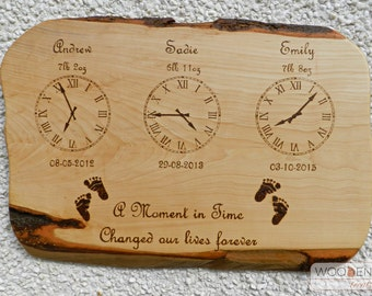 Memento plaque, Family Plaque, Naming Ceremony, Family Tree, Personalised Gift, Kids Personalised gift
