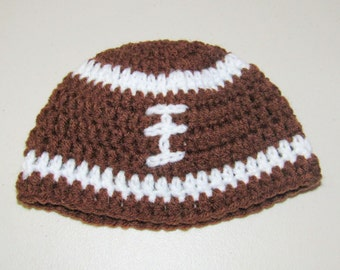 Crochet baby football hat
