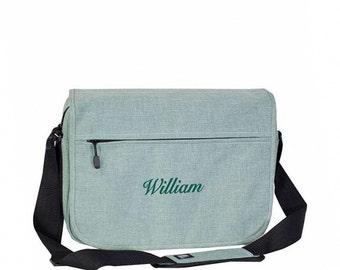 Trendy Element Laptop Bag With Monogram - Jade