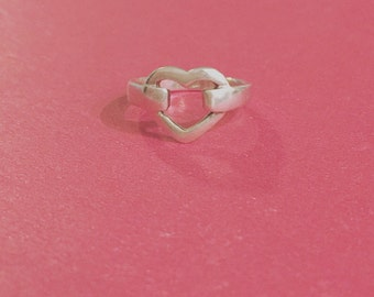 embraced heart ring