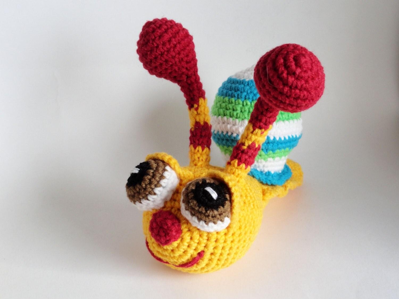 Amigurumi häkeln schnecke spielzeug tier geschenk für