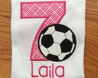 Birthday Soccer Shirt, Girls Soccer Birthday Shirt, First birthday, second, third, fourth, fifth, sixth