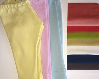 Sale! Handmade Organic Cotton Interlock Romp-Around Leggings