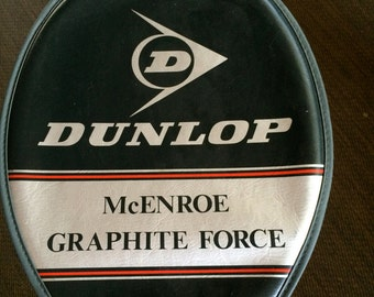Dunlop McEnroe Tennis Racket,Tennis Racquet,Graphite Force Tennis Racket,Celebrity Tennis Racquet,Tennis Gift,Tennis Collectible,Racket Gift