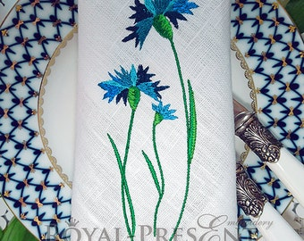 Machine Embroidery Design - Cornflowers
