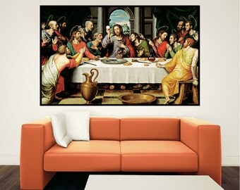 Last Supper Wall Decor last supper painting | etsy