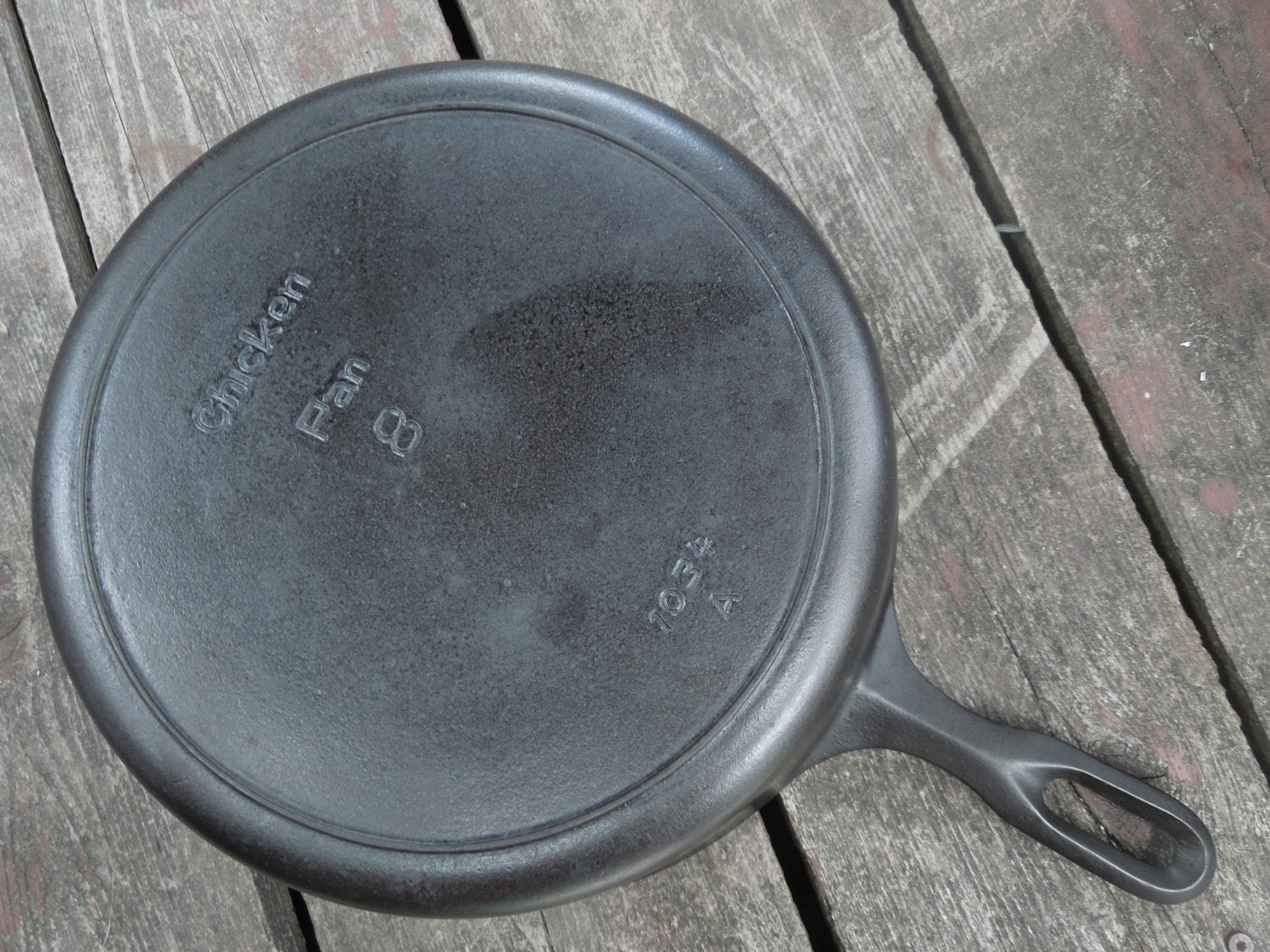 Griswold cast iron skillet mountain line number deep