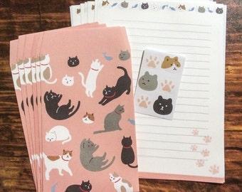 Japanese Cat Stationery Set