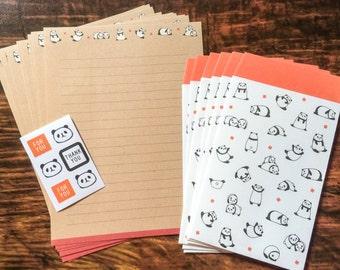 Japanese Panda Stationery Set